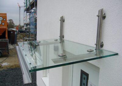 glasvordach aus glas