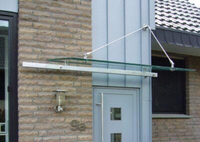vordach glas zugstange
