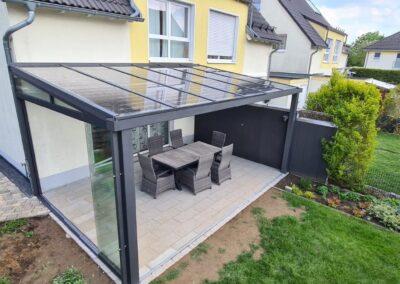 Solar Terrassendach Schiebelement