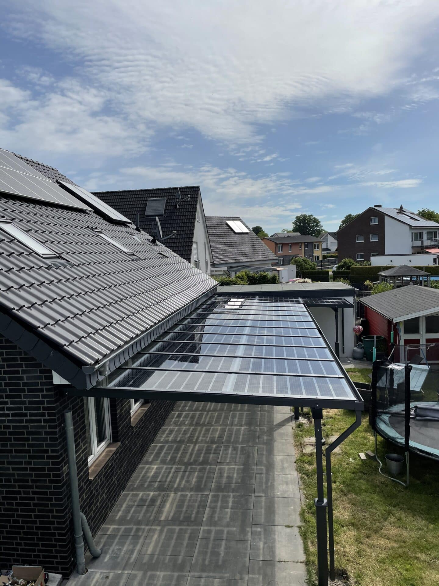 Terrassenüberdachung mit Solar