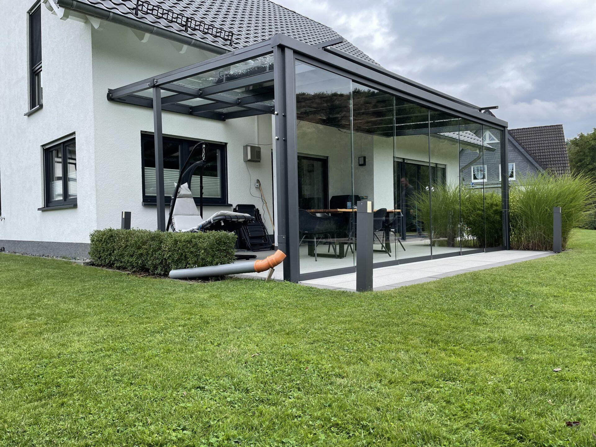 Stahl Terrassenüberdachung